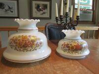 Vintage  2 globes anciens  modèle champignon