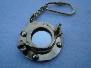 Brass-Porthole-Mirror-Keychain-Nautical-Port-Hole-Key-Chain