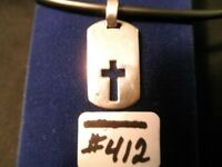 #412-75% OFF STERLING SILVER CROSS