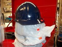 SAFETY HATS BLUE AND WHITE
