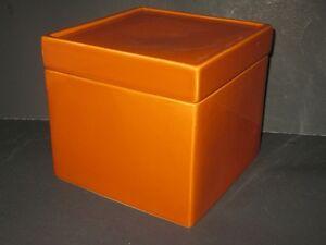 "BRAND NEW Large  Orange Porcelain Trinket Box 8"" X 8"" MINT Windsor Region Ontario image 3"