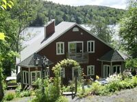 LAKEFRONT AND MOUNTAIN VIEW CHALET FOR RENT