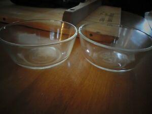 Pair of Fire King Clear Dishes