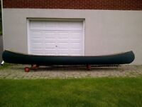 "REDUCED PRICE --- ""HURON""  WOOD CANVAS CANOE 16 Foot"