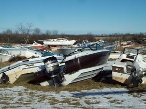 Ontario boat wreckers huge selection of used parts 705 for Outboard motor salvage yard