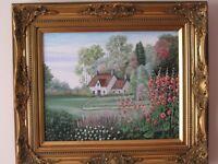 Peinture à l'huile sur toile Maison à la Campagne