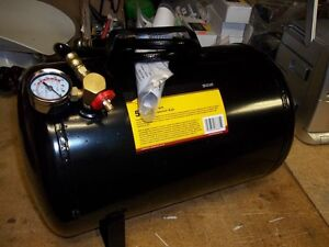 PORTABLE AIR SUPPLY TANK WITH GAUGE  / HOSE