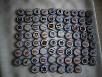 76 Labatt Blue Stanley Cup Winning Teams Bottle Caps