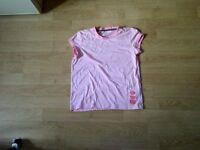 Girls pink xl (14) joe fresh tshirt no rips or stains