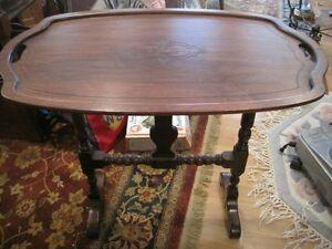 Antique Gibbard Solid Walnut Tilt Top Table