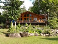 Luxury Log Cottage at  Resort in Frontenac Area