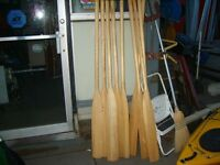 """8  Pairs of new Oars for small boat. 78"""" or  84"""""""
