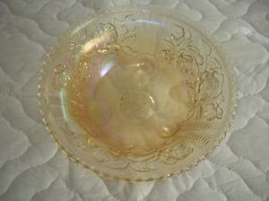 Antique Imperial Open Rose Carnival Glass Bowl