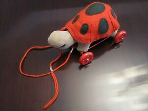 Vintage Turtle Pull Toy on Wheels: Holt Renfrew 1950/60s