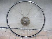 """Roue de vélo Arrière 26""""X1.5 en aluminium, double parois, XT"""