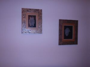 2 Shadow-box type wall pictures/art, with an ethnic theme
