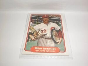 1981-HOMERUN KING MIKE SCHMIDT- FLEER # 637  NM