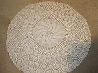 Price Reduced to go!! Hand Knit, Crocheted Tablecloth