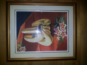 Bananas, Watercolour painting, framed