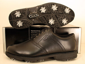 Men's Lites Etonic Golf Shoes Size 8 Black/Black EM6000-1 NEW