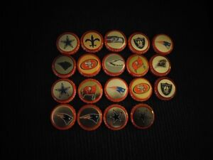 19 Budweiser Silver Background NFL Bottle Caps