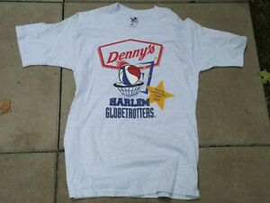 HARLEM GLOBE TROTTERS SIGNED DENNY'S T SHIRT FROM 1999 NA TOUR