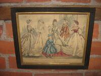 Antique Fashion Prints