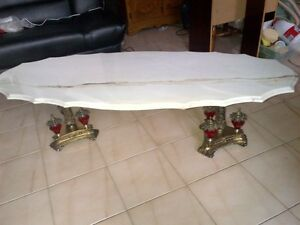 Table A Café Millésime en Marbre / Vintage Marble Coffee Table
