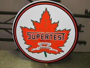 2 Foot Round SUPERTEST Masonite SIGN