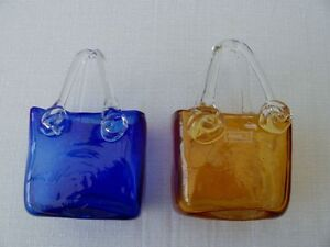 Blown Glass square candy dishes