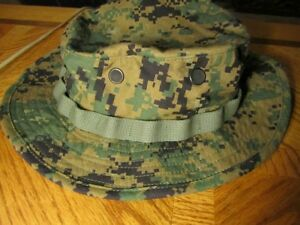 USMC MARPAT Woodland Boonie Hat in Large. New never used.