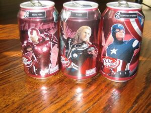 Dr. Pepper Can Collection: Avengers, Spiderman, Wonder Woman