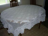 Table cloth hand crocheted