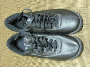 NEW, Black, Leather Running Shoes