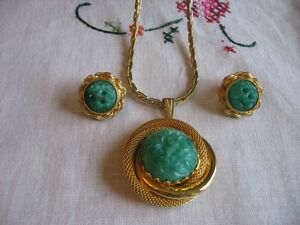 """ CONTINENTAL"" NECKLACE AND EARRINGS SET"