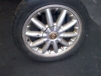 FINAL PRICE !!  4  Summer Tires with Rims and Caps