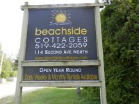 Beachside Cottages Sauble Beach until June 2015