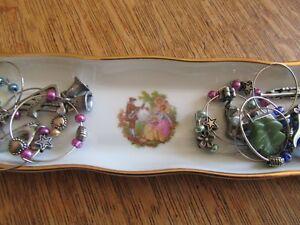 Limoge porcelaine contenant pour anneaux à verre de vin