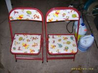 Vintage Disney Winnie The Pooh Kids Chairs Collectible