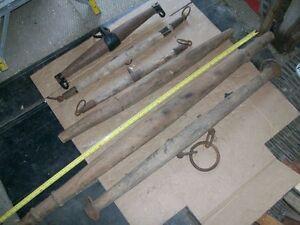Horse collar hames, whiffletrees, hardware, oxen neck yoke, etc.
