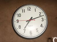 REDUCED TO CLEAR Double Sided School Clock $50.00