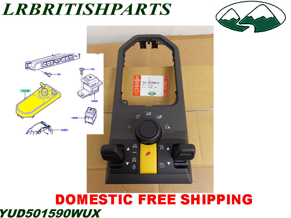 Land Rover Switch With Terrain Floor Console Lr3 Yud501590wux