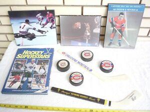 NHL livre hockey Maurice Henry Richard Bourque Pete Lepine puck