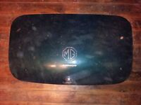 MG Midget trunk lid, handle, & lettering