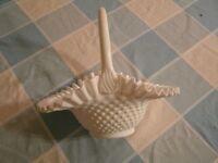 Vintage Hobnail Brides Basket