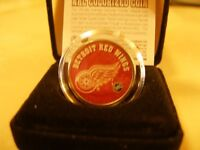 Colourized Detroit Red Wings Coin