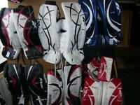 Ball Hockey Player and Goalie equipment
