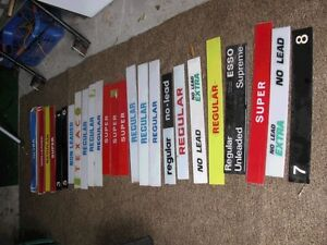 25 Assorted Gas Sign Plastic Inserts