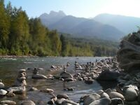 Cabin by Chilliwack River March availability. Mountain Views.