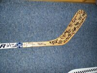 Moncton Junior Beavers Autographed Hockey Stick
